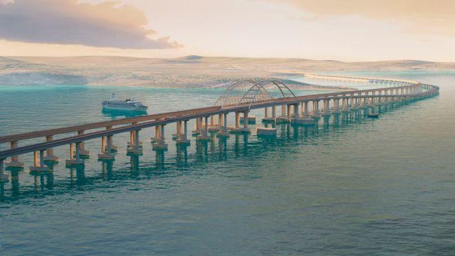 Мост через Керченский пролив (макет)